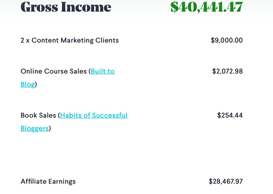 Ryan Robinson income report