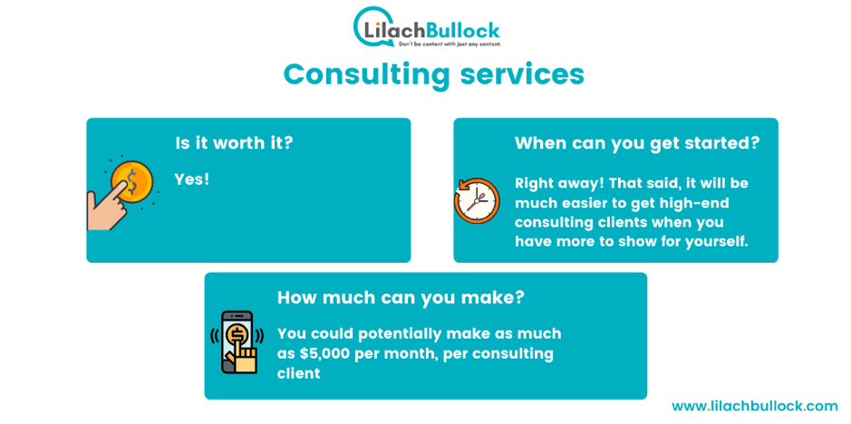 Make money blogging with consulting services