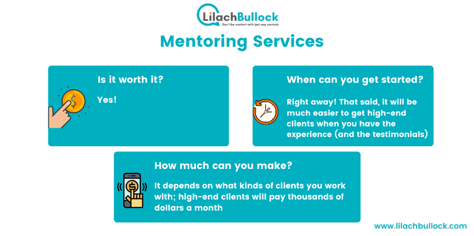 Making money blogging with mentoring services