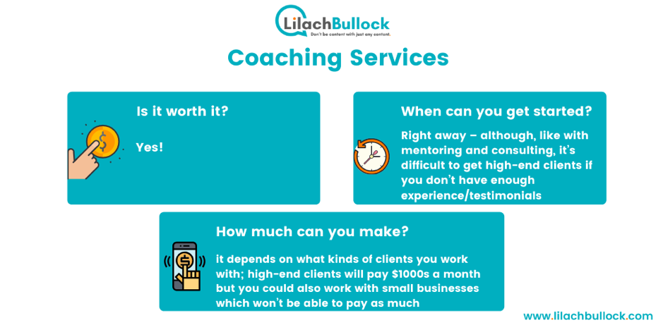 Making money blogging with coaching services