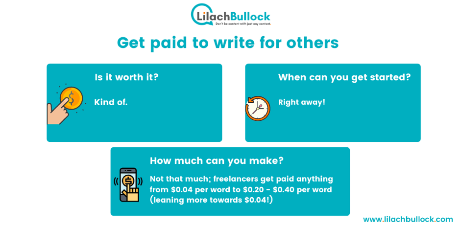 Making money blogging by getting paid to write