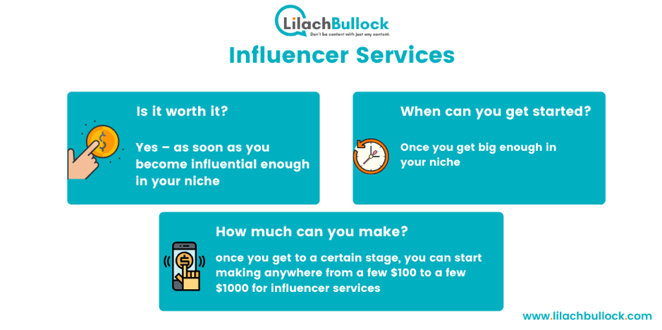 Making money blogging with influencer services