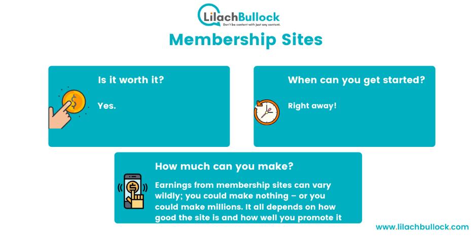 making money blogging with membership sites