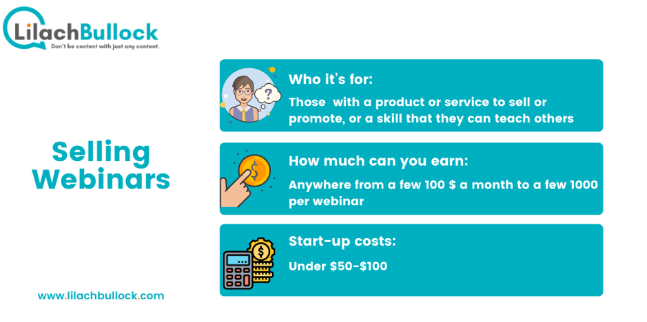 How to make money online with webinars