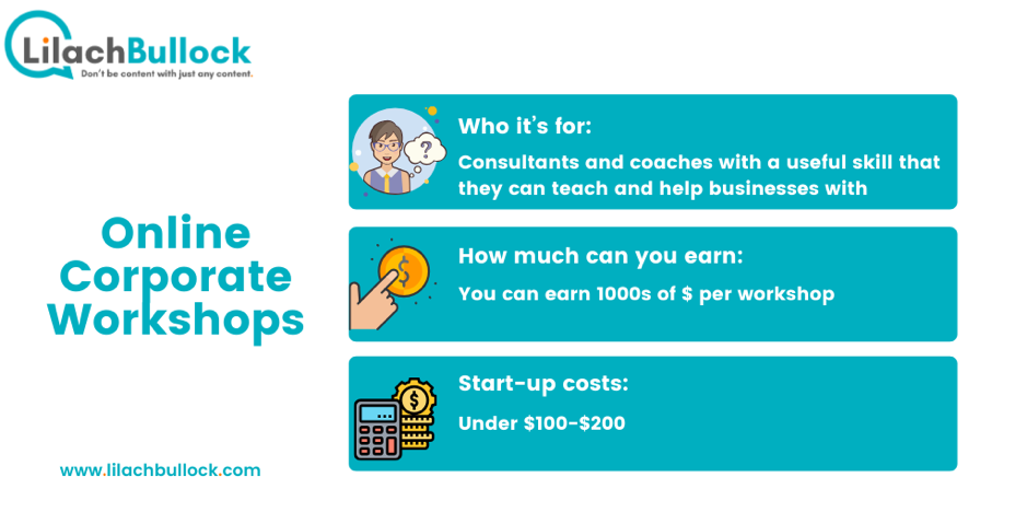 How to make money online with online corporate workshops