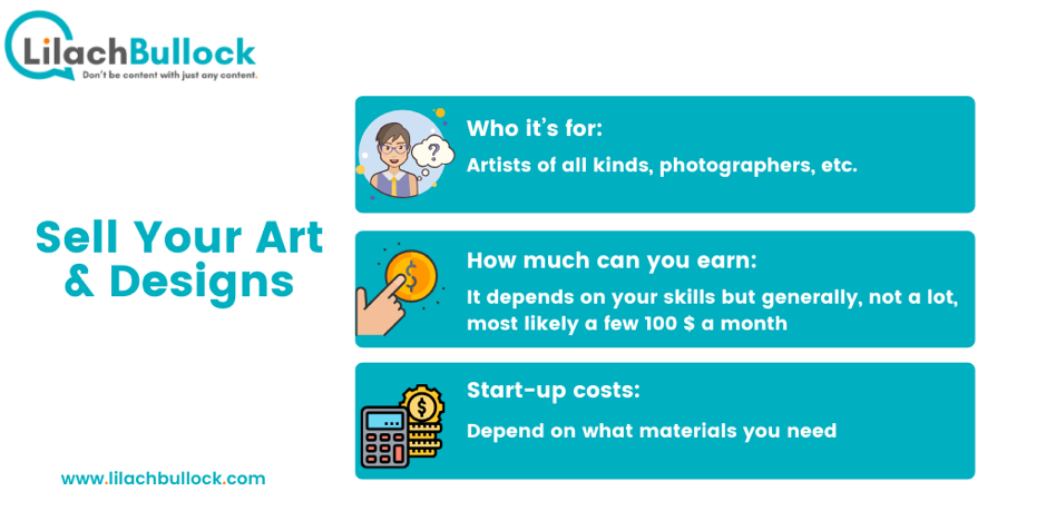 How to make money online with your art