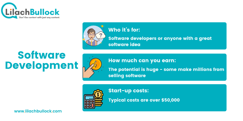 How to make money online with  software development