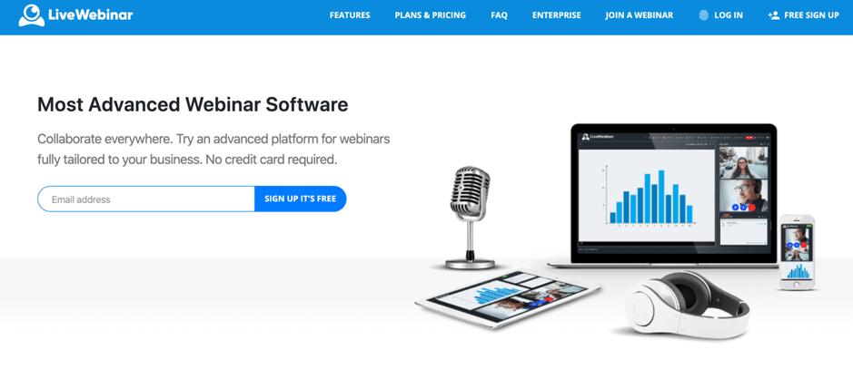 livewebinar webinar software homepage