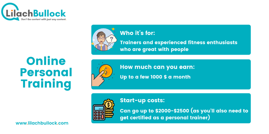 How to make money online with online personal training