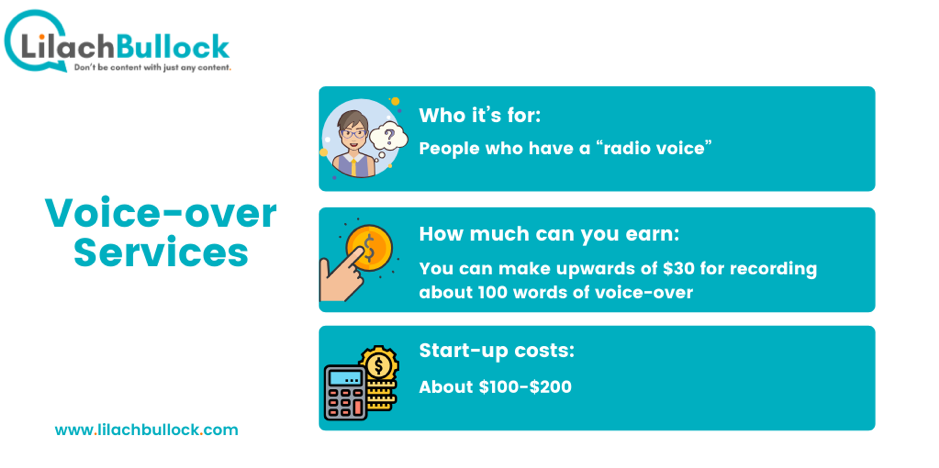 How to make money online with voice over services