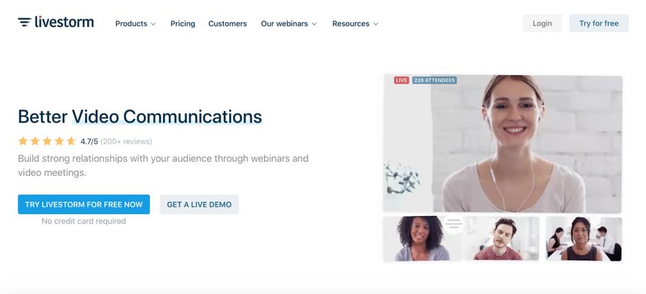 Livestorm homepage