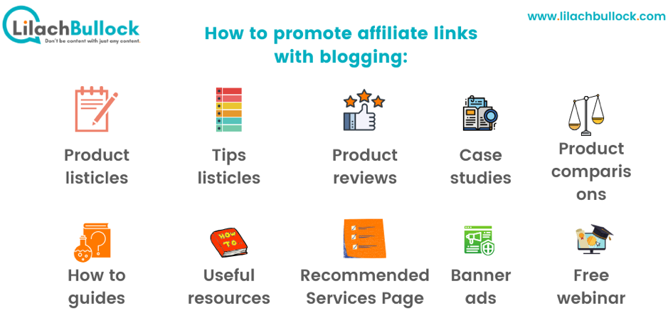 How to promote affiliate links with blogging