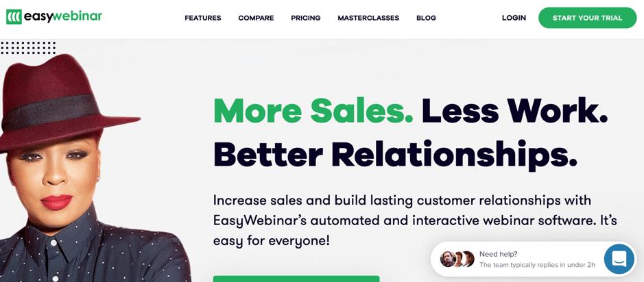easywebinar webinar software screenshot