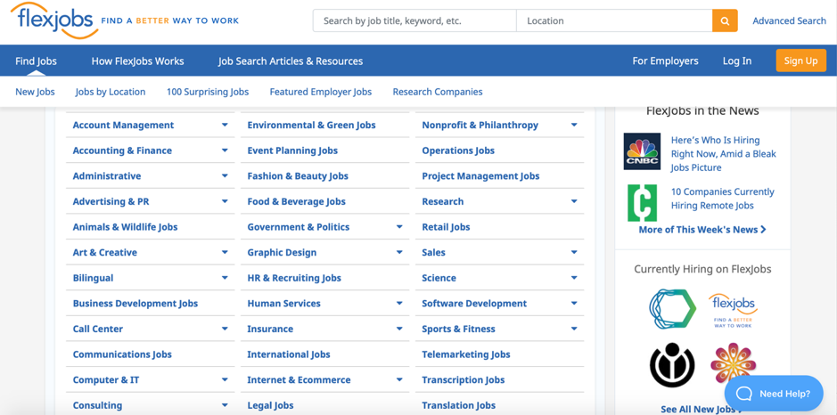 flexjobs screenshot