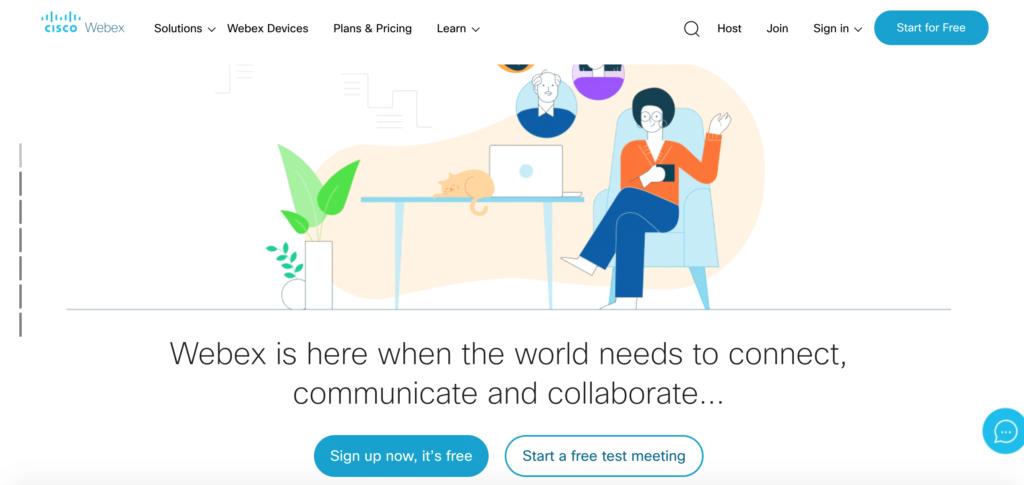 webex webinar software screenshot