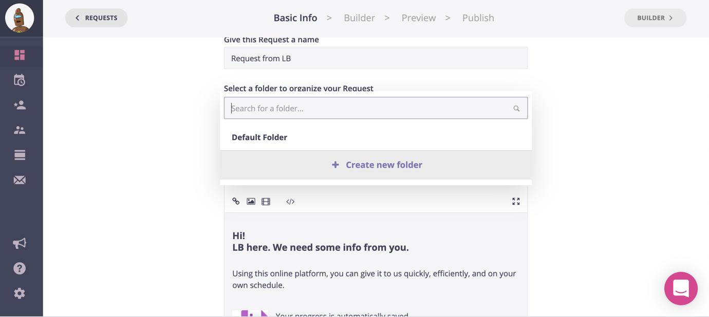content snare default folder