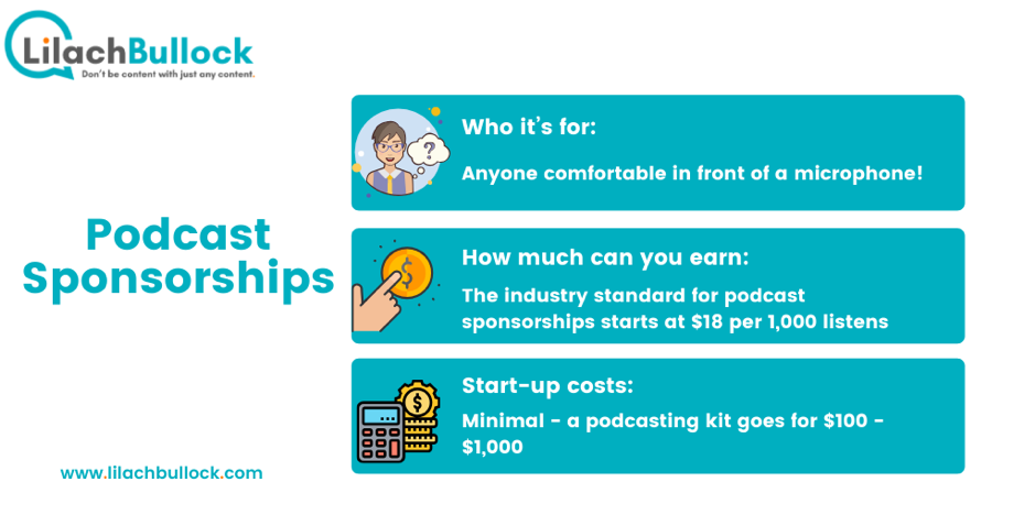 how to make money online from podcast sponsorships