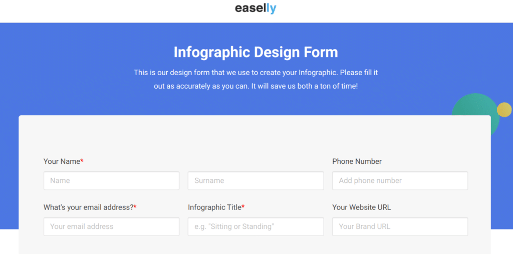 easelly infographic design form