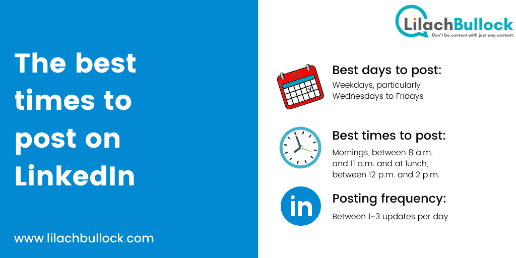 The best times to post on LinkedIn