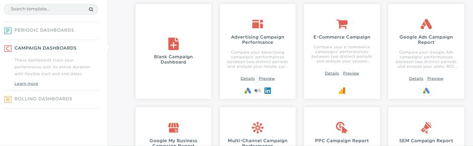 dashthis campaign dashboard