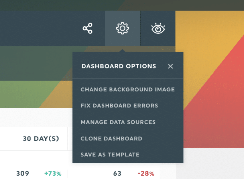dashthis dashboard options