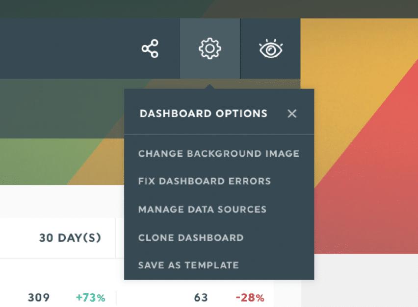 dashthis dashboard options