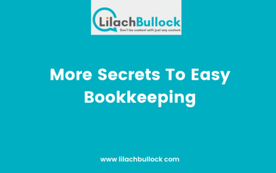 More Secrets To Easy Bookkeeping